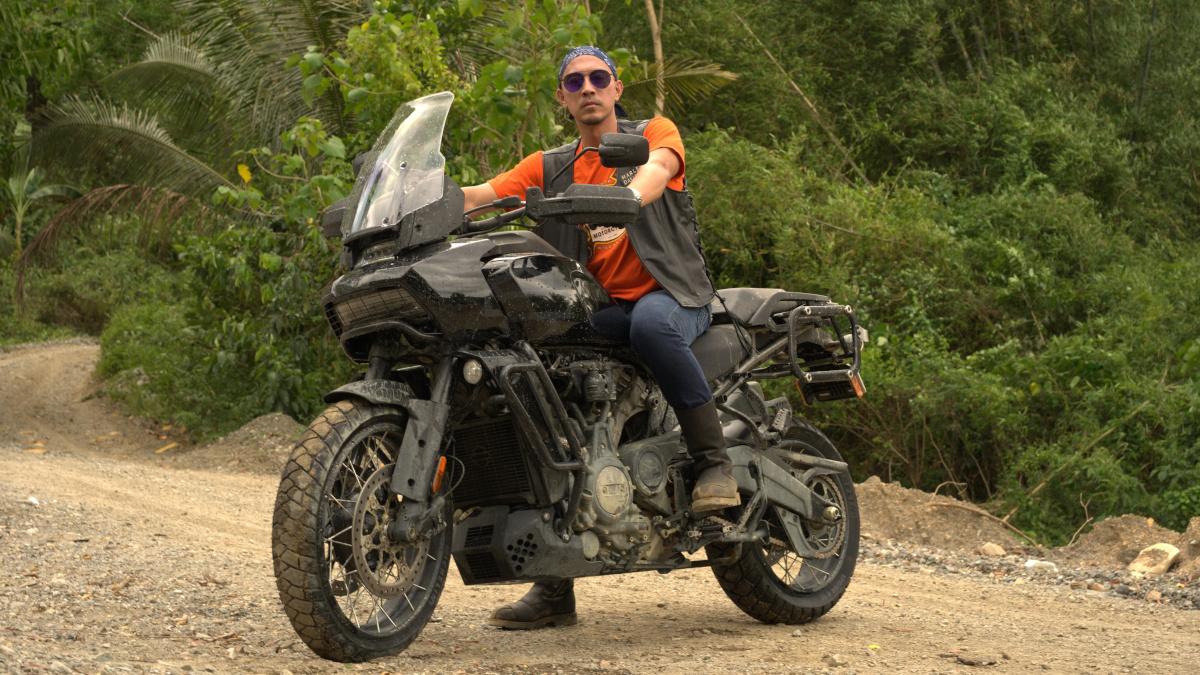 Man riding the Harley-Davidson Pan America 1250 Special