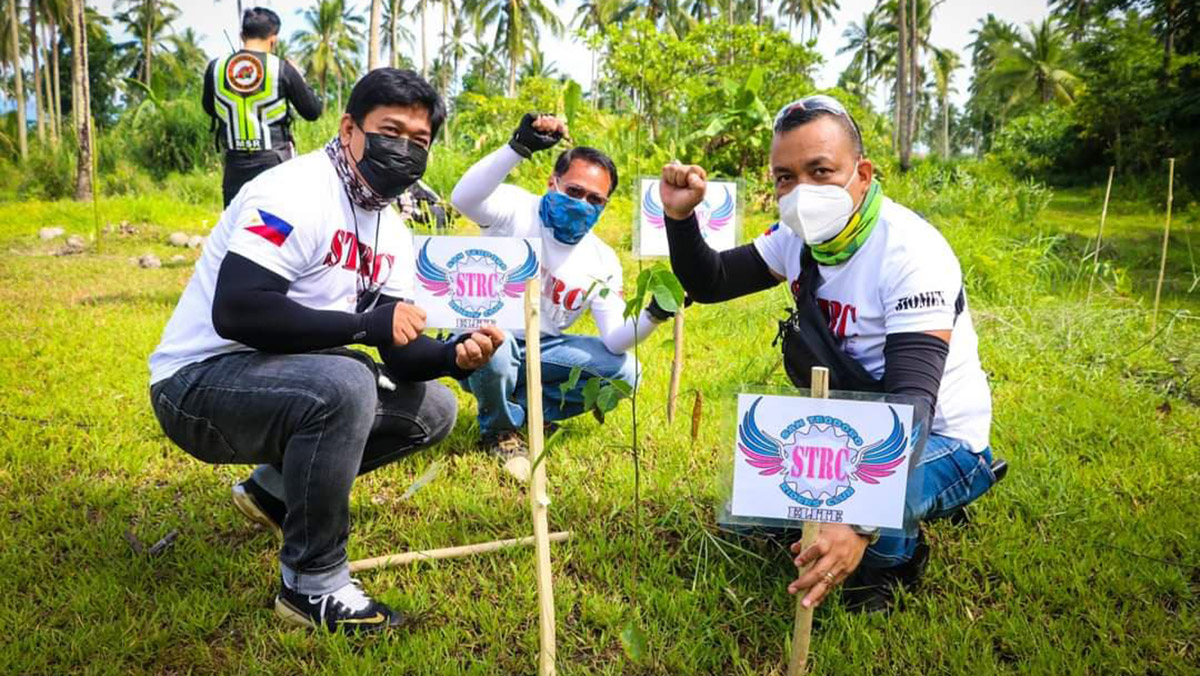 Motorcycle Riders' Day 2021 tree-planting activity