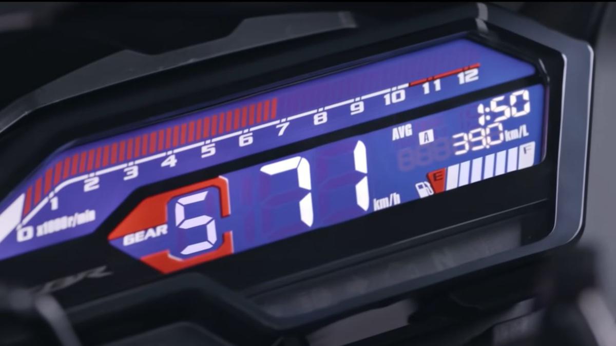 2021 Honda CBR150R LCD dash