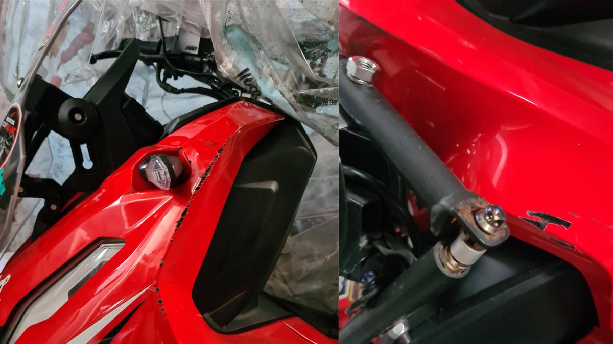 gasgas na fairing ng Honda ADV 150
