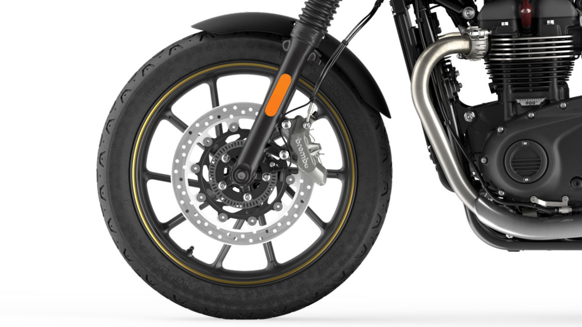 2021 Triumph Street Twin Gold Line Limited Edition Wheels