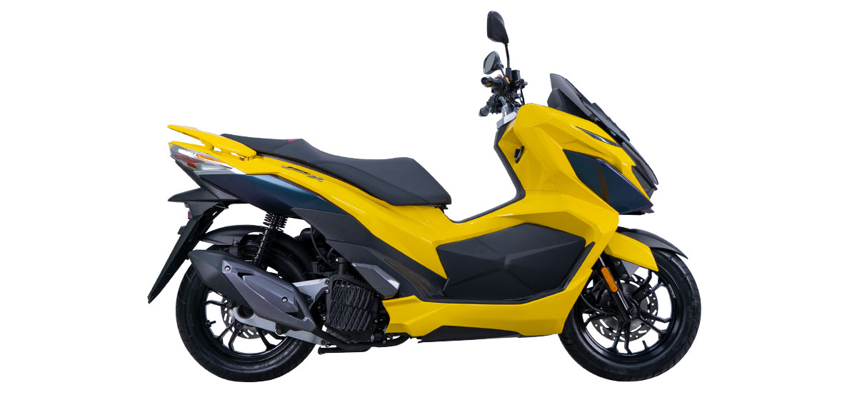 Yellow 2021 SYM Jet X 150