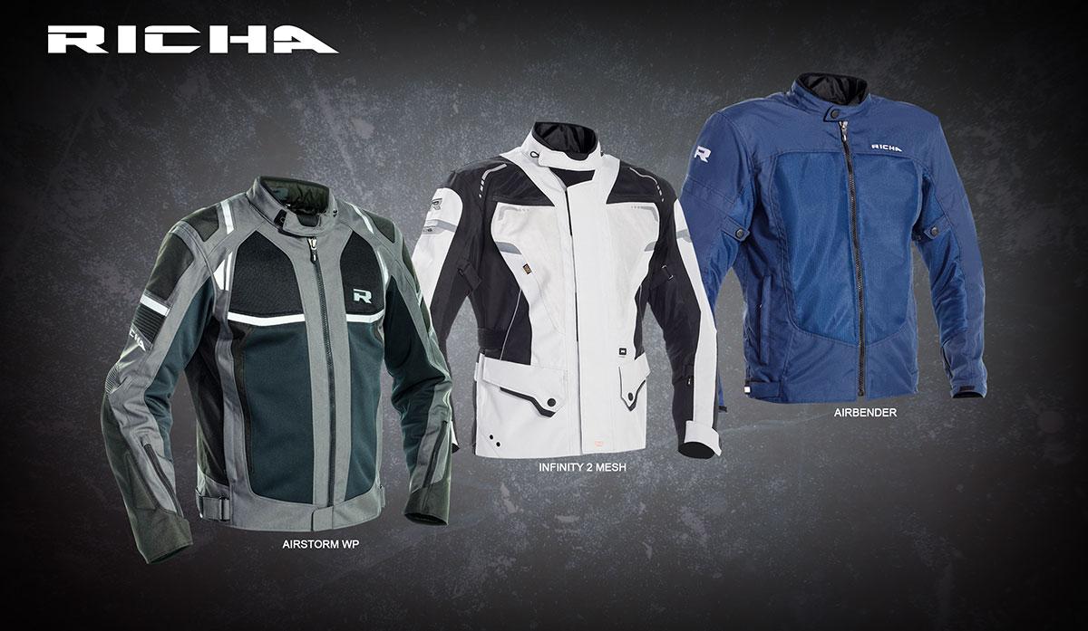 Airstorm WP, Infinity 2 Mesh, and Airbender jackets