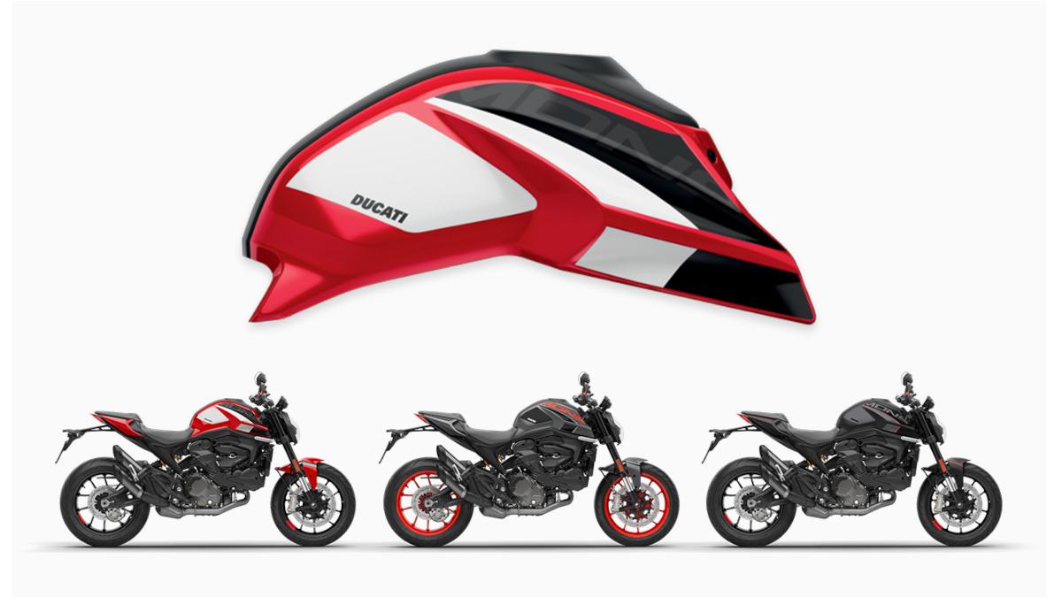 2021 Ducati Monster customization kit, Corse