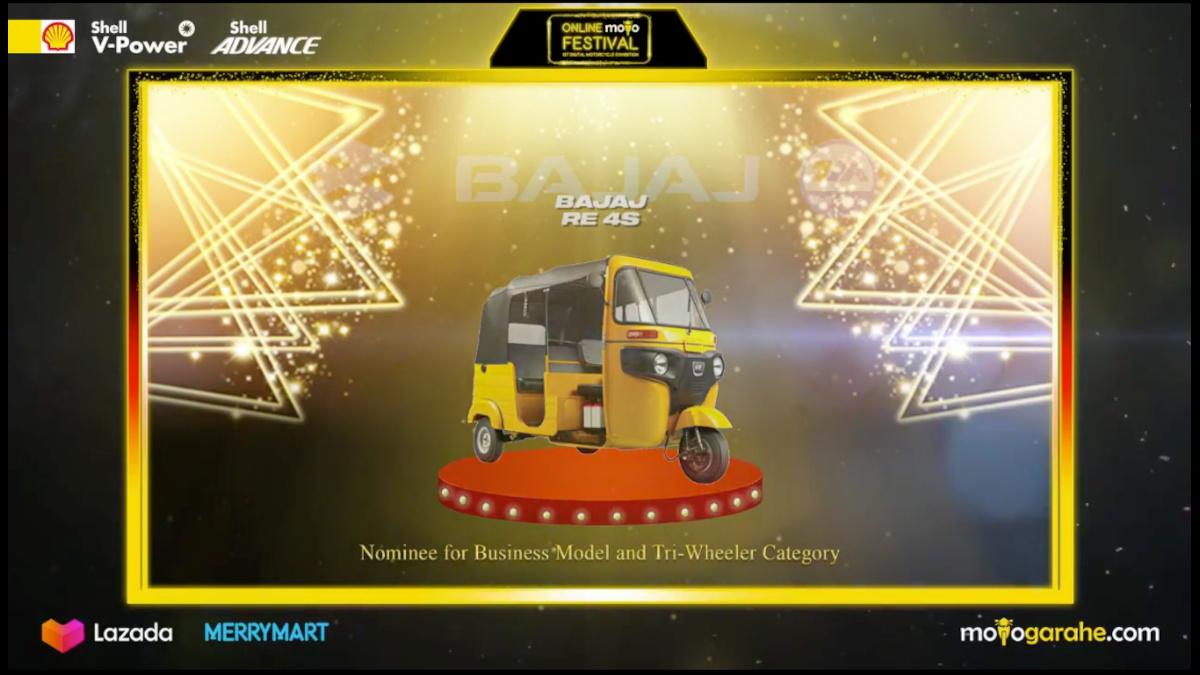 2021 Bajaj RE Nominee for Business and Tri-Wheeler Category in Moto Garahe Online Festival