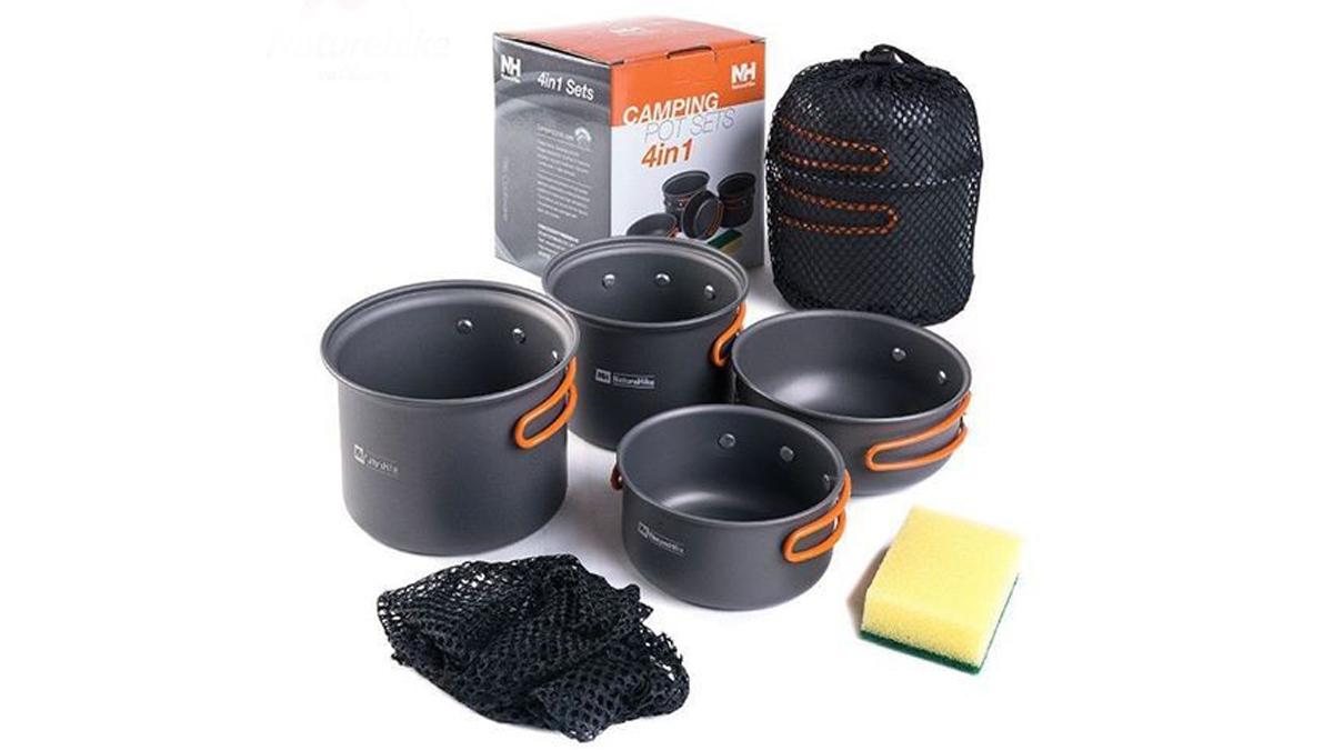 Moto camping essentials: Naturehike NH15T401-G cooking set