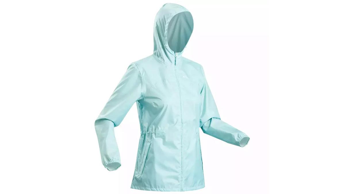 Moto camping essentials: Quechua NH100 Raincut Full Zip rain jacket