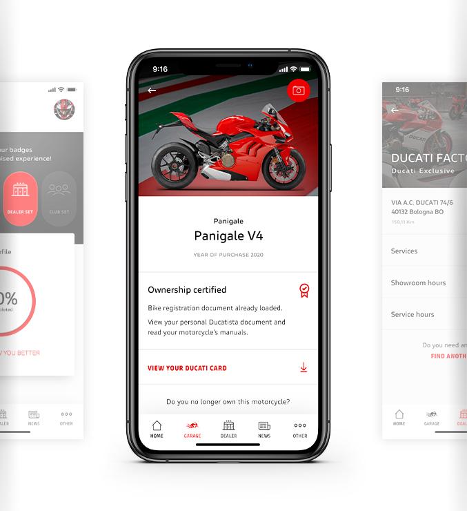 MyDucati app digital garage features