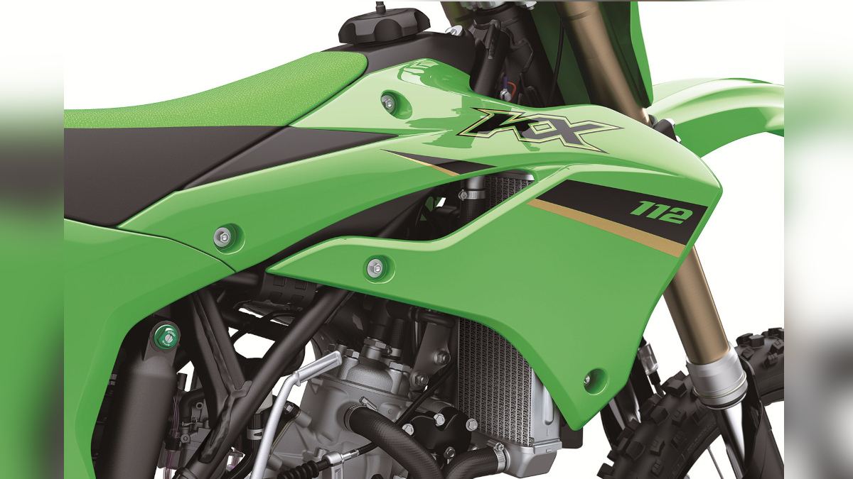lime green-colored Kawasaki factory racing styling