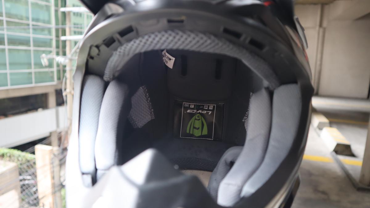 Lev3 BJ-8840 off-road helmet removable washable liner