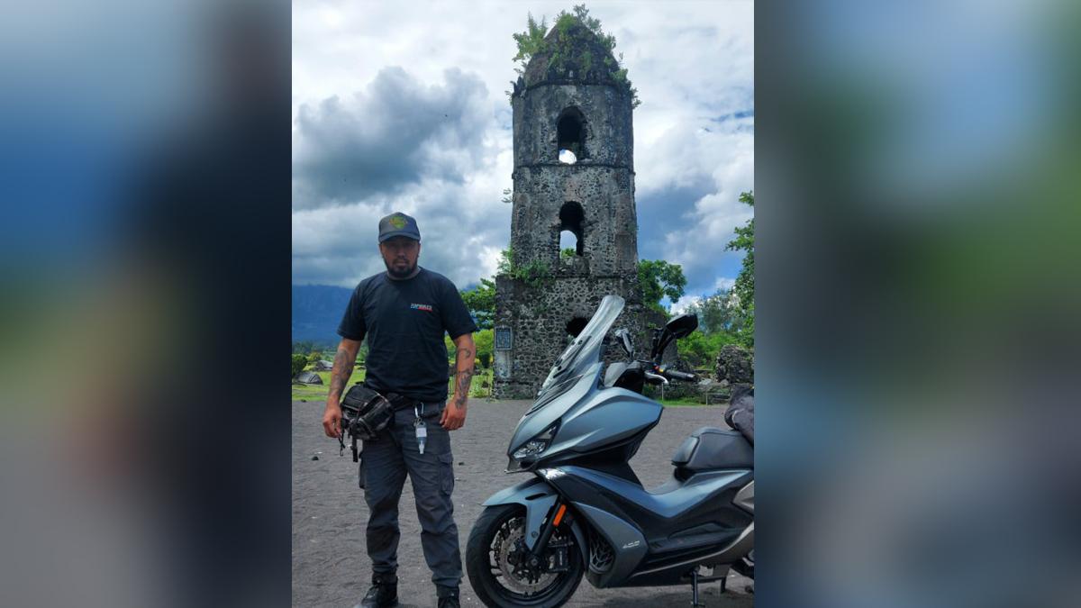 Micahel Bucu participating in the Philippine Loop adventure