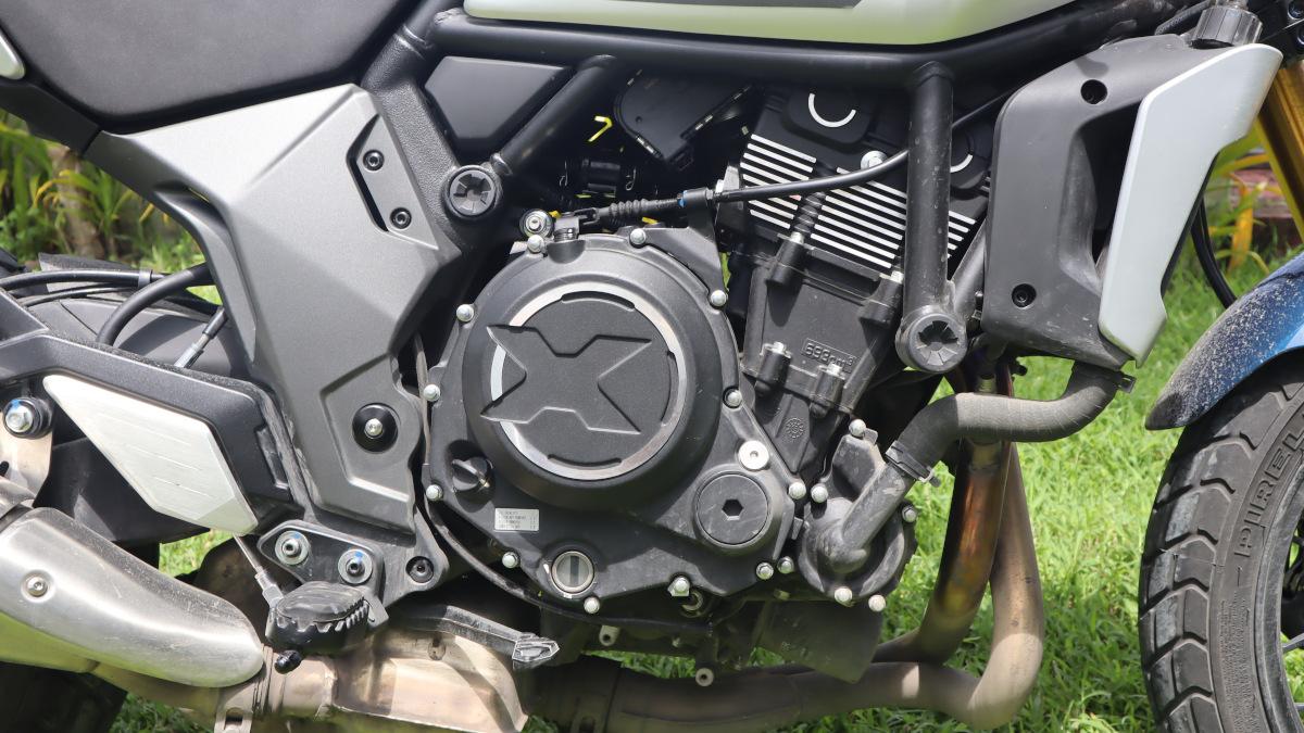 2021 CFMoto 700 CL-X Heritage 693cc DOHC twin-cylinder engine
