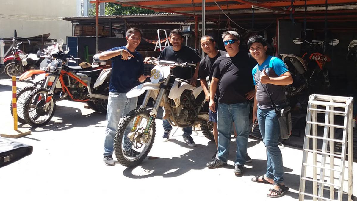 Ariel Ansaldo and Pao Toral are the founders of the motorcycle accessories, service, and bike rental shop Enduro Factory