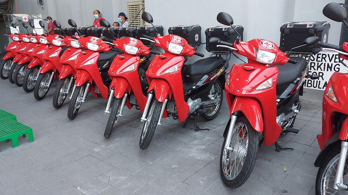 Honda Philippines donates 21 motorcycles to Philippine Red Cross