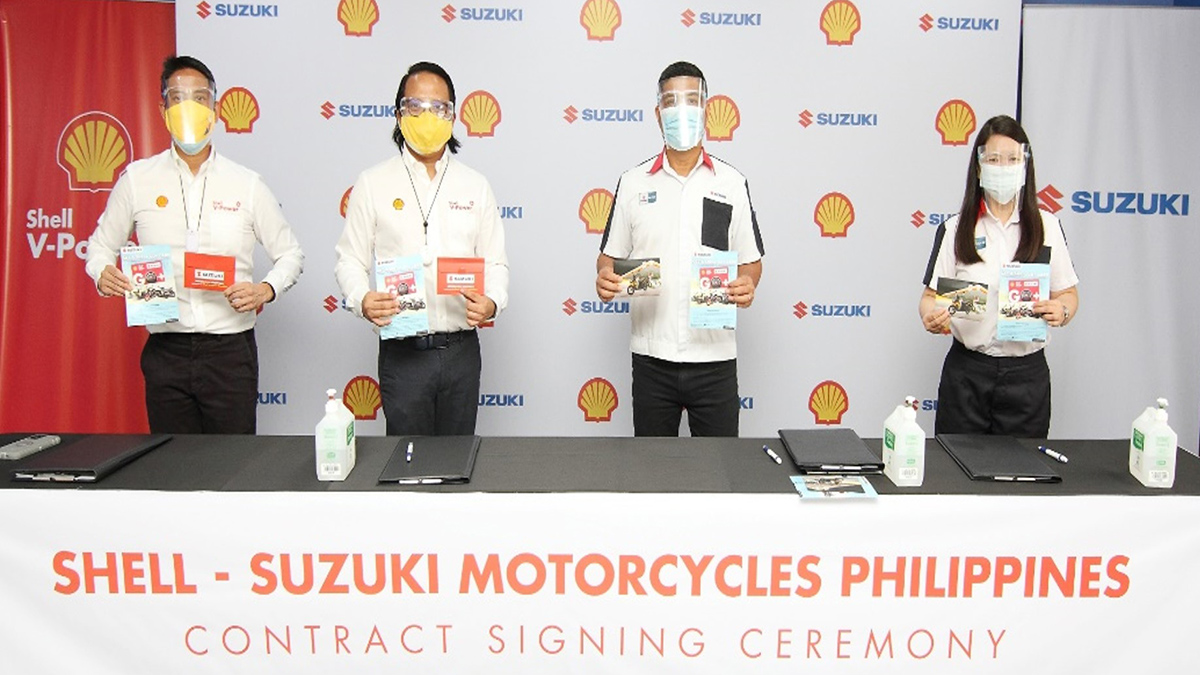 Pilipinas Shell in partnership with Suzuki Philippines entitles owners of new Suzuki bikes for a free roadside assistance