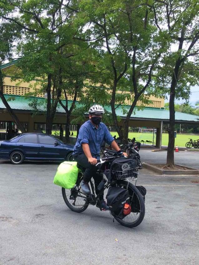 bike commuter Dr. Andro Umali