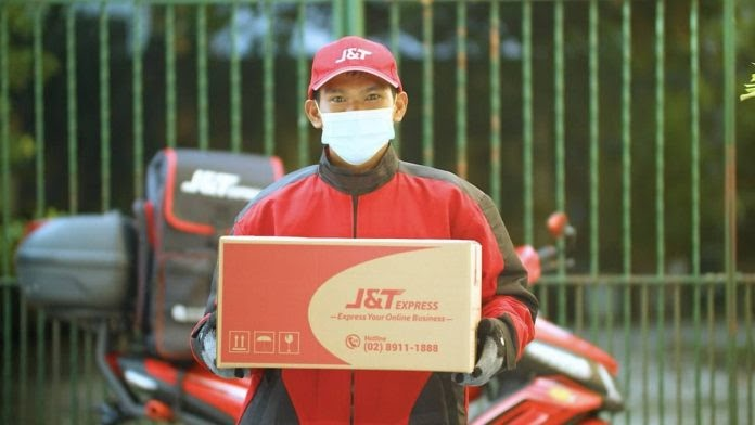 J&T Express delivery rider