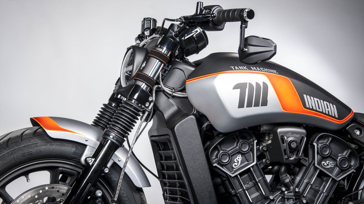 Indian and custom shop Tank Machine unveil the Scout Sixty Neon Series