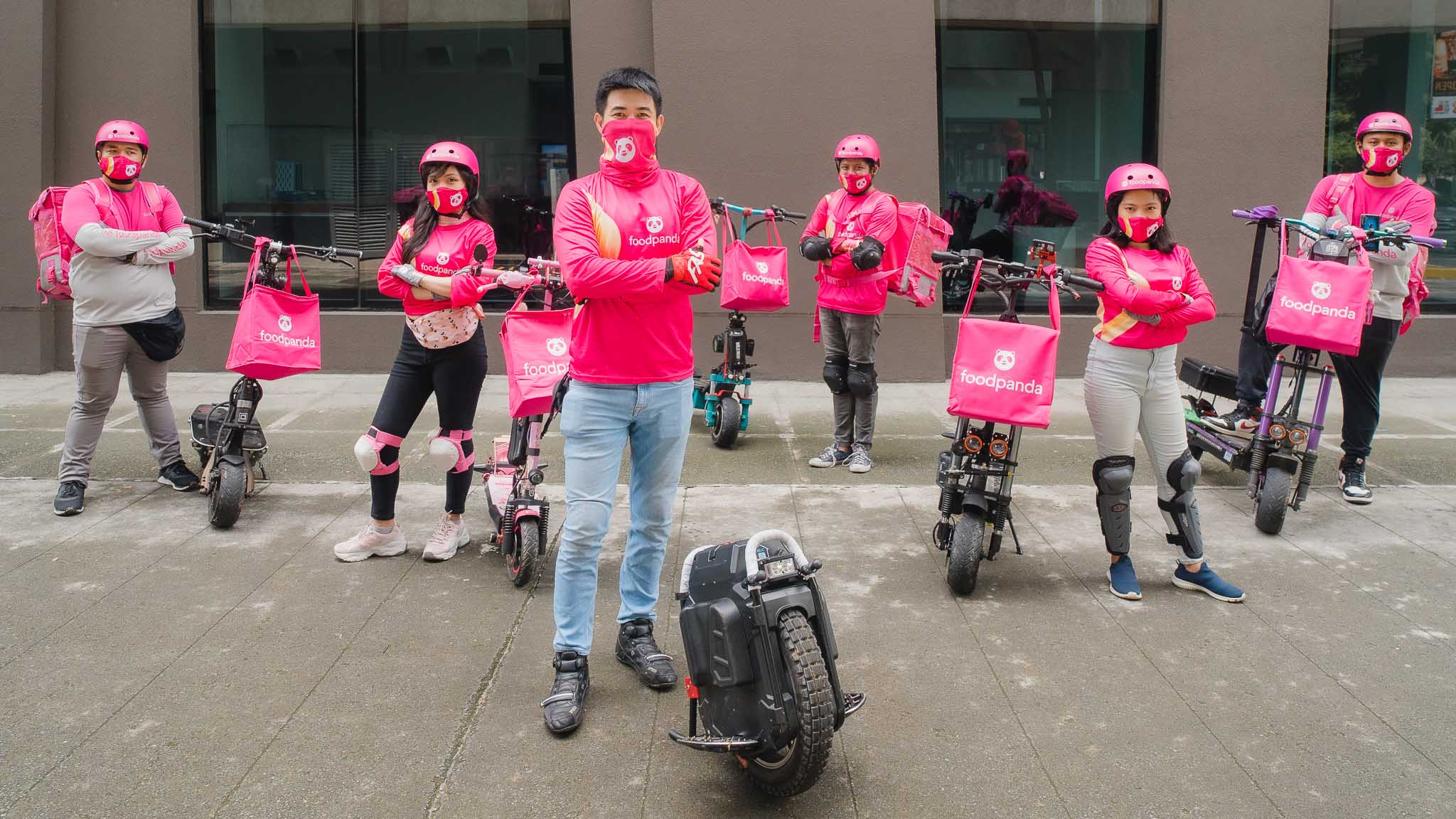 Foodpanda has deployed electric kick scooter riders to be part of its delivery teams in Makati and Bonifacio Global City