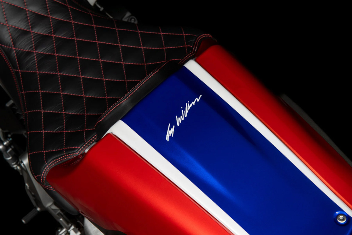 2021 Honda CB1000R 5Four Guy Willison's signature painted onto the tailpiece