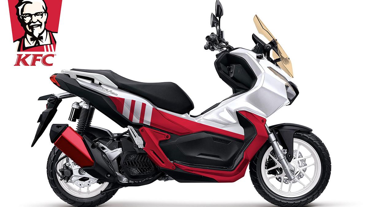 KFC-inspired custom motorcycle design