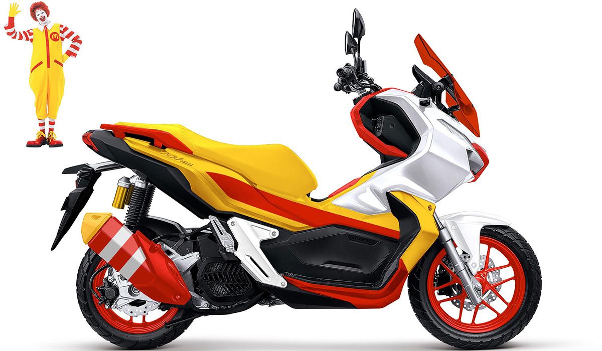 McDonald's custom motorcycle design
