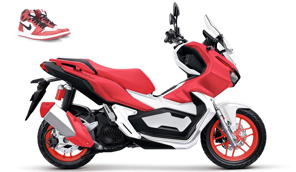 Air Jordan 1 custom motorcycle design