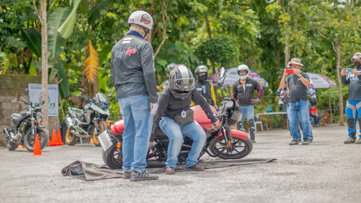 The very first thing that the instructors taught was how to pick up a fallen motorcycle