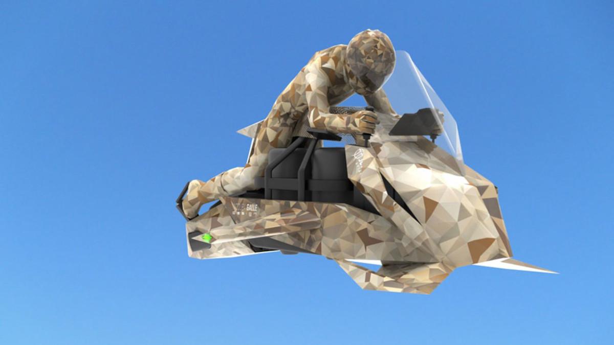 Jetpack Aviation Speeder flying motorcycle