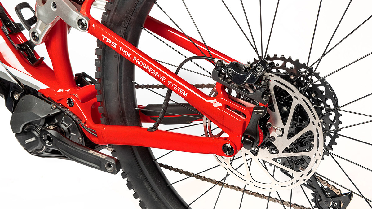 Ducati MIG-S electric mountain bike 630wH Shimano battery is positioned below the downtube allows the bike to cover long-distance travel