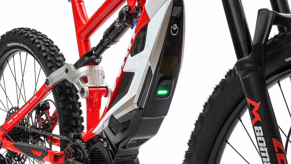 The Ducati MIG-S electric mountain bike is powered by a Shimano Steps E8000 250W motor