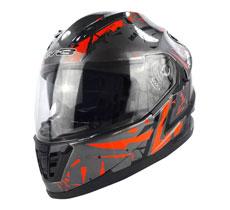 Lev3® Full-Face BJ-9930 Extreme Helmet (Dark Metallic Silver-Base)