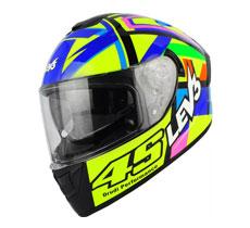 Lev3® FullFace Dual Visor BJ-9950 Art Motorcycle Helmet