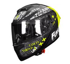 Lev3® FullFace Dual Visor BJ-9955 PSY Motorcycle Helmet