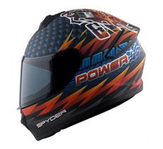 Spyder Full-Face Helmet Spike 2.0 G Series 5 RAW POWER- (FREE Clear Visor)