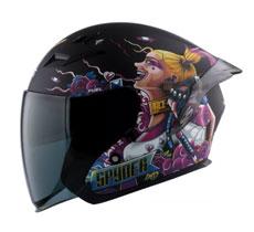 Spyder Open-face Helmet with Dual Visor FUEL GD Neo Series-ACE
