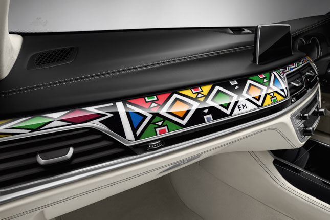 BMW 7-Series art car by Esther Mahlangu