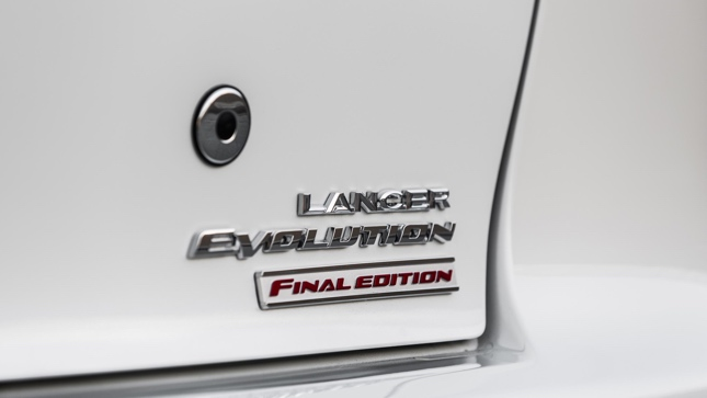 One of the last Mitsubishi Lancer Evolution units up for grabs