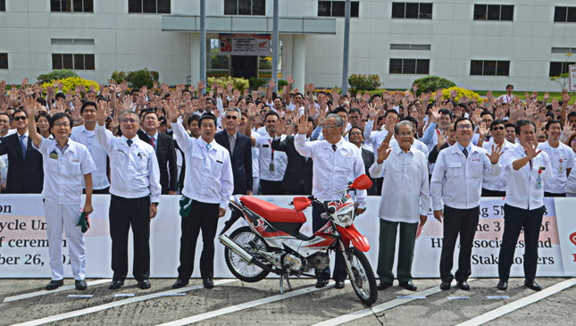 Honda Philippines celebrates five million motorbikes manufactured