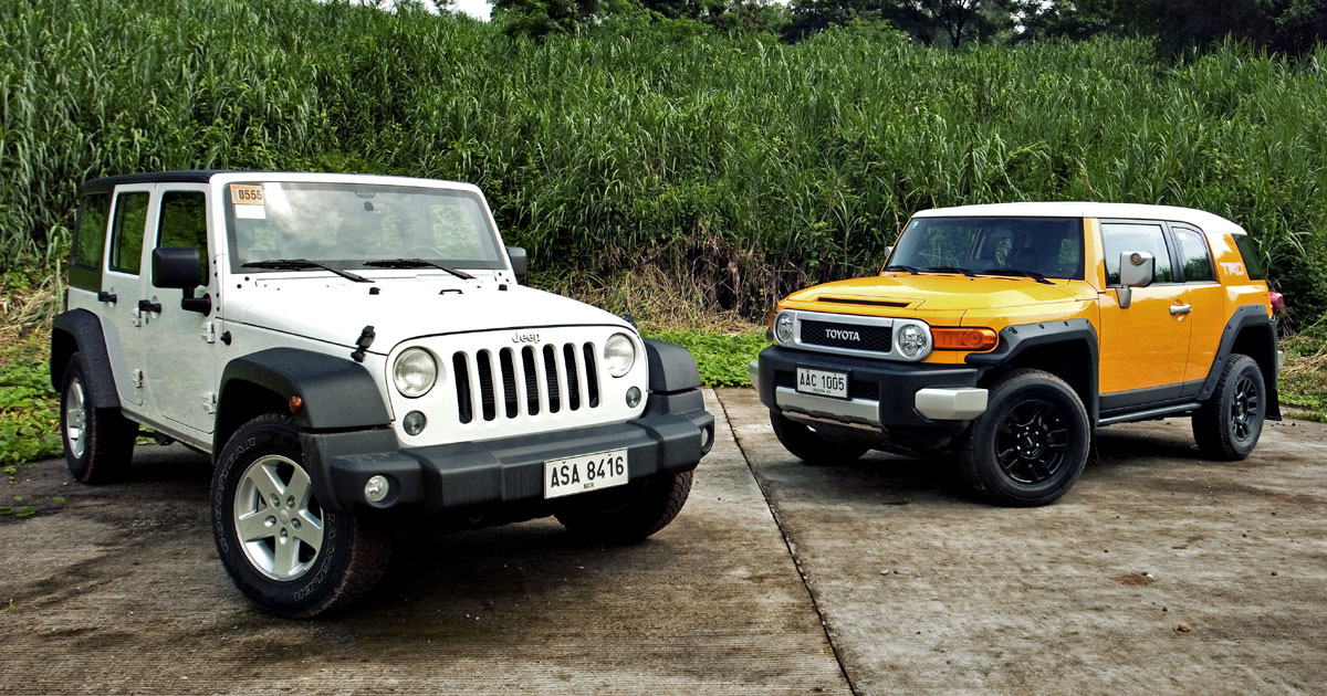 Great Jeep Wrangler Unlimited Sport Vs. Toyota FJ Cruiser | The Big Test | Top  Gear Philippines