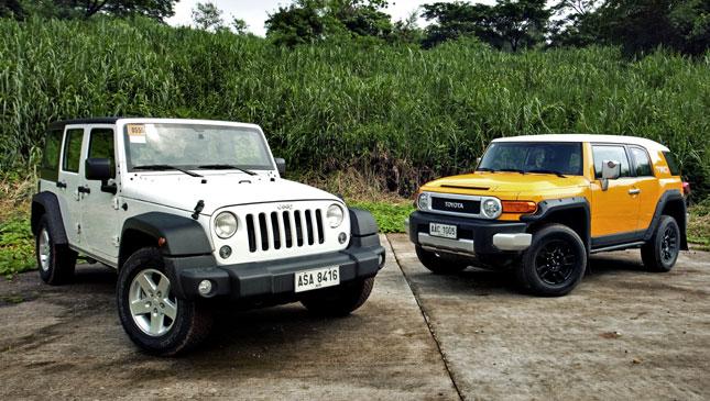 jeep wrangler unlimited sport vs. toyota fj cruiser | top gear