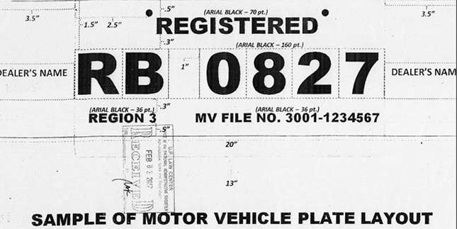picture about Printable Temporary License Plate Template titled The fresh new LTO-authorized momentary license plate layouts