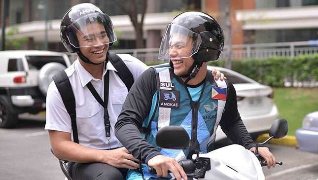 Angkas is a simple new, motorcycle-based ride-hailing platform