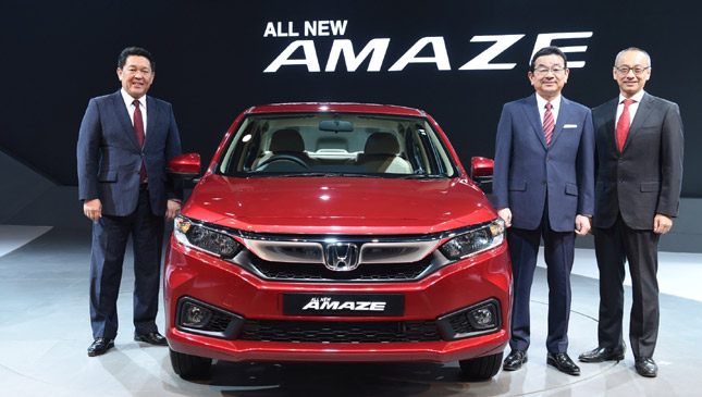 Honda Brio Amaze 2018 Launch Photos Features
