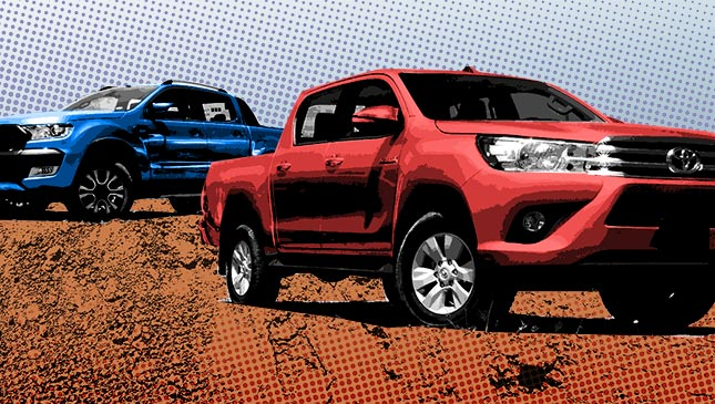 Mitsubishi Strada vs  Ford Ranger vs  Toyota Hilux vs  Chevrolet