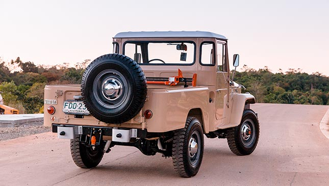 Check out this rare restored 1965 FJ45 Toyota Land Cruiser