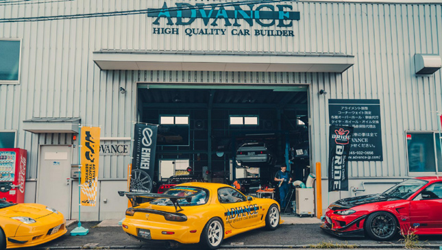 A look inside the Advance Tuning garage in Japan