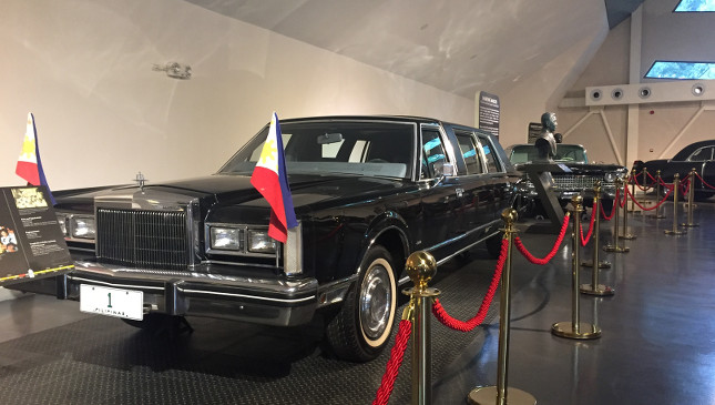 The vehicles on display at the Presidential Car Museum