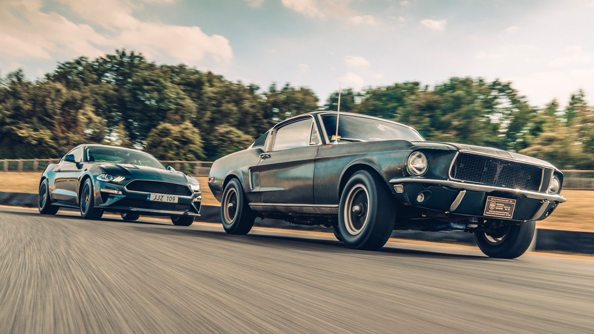 The new mustang bullitt meets the iconic 1968 original