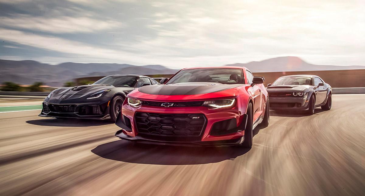 American Muscle Car War Vette Vs Camaro Vs Demon